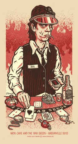 Nick Cave rot 1000