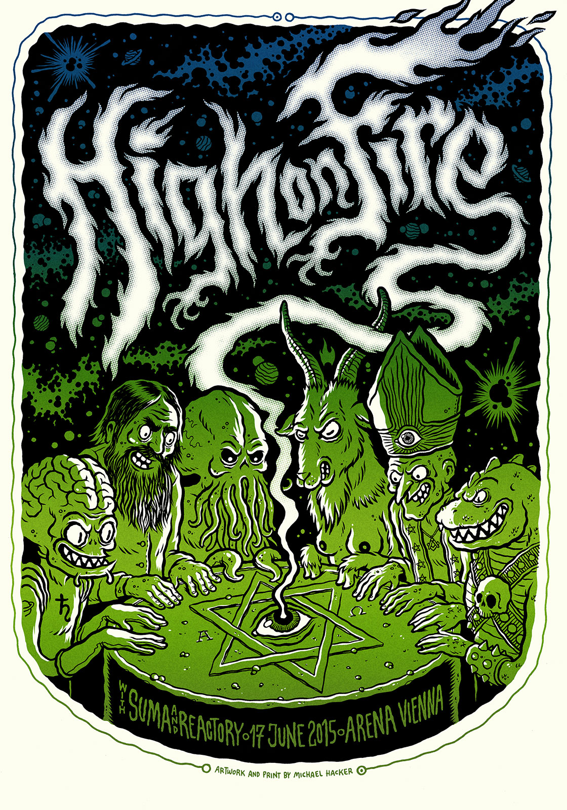 Michael Hacker High on Fire gig poster