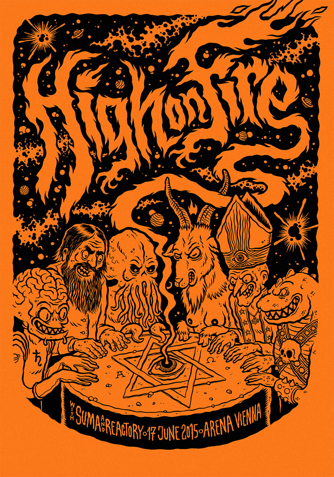 Michael Hacker High on Fire gig poster variant