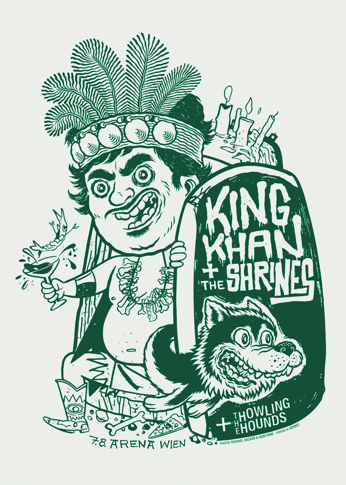 King Khan and the Shrines Gigposter by Michael Hacker and Idon Mine