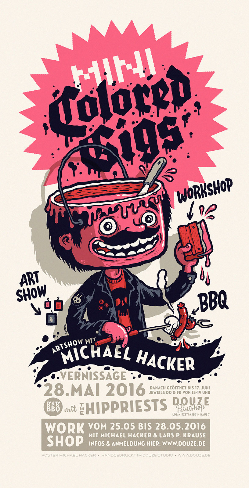 Mini Colored Gigs Ausstellung mit Michael Hacker in den Douze Studios Dresden